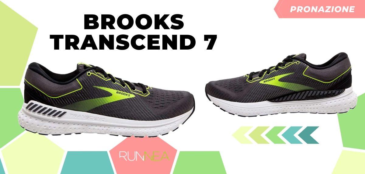 Migliori scarpe da running 2020 di pronazione, Brooks Transcend 7