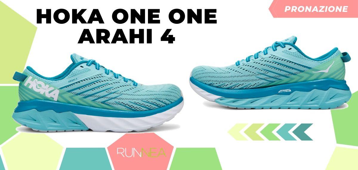 Migliori scarpe da running 2020 di pronazione, Hoka One One Arahi 4