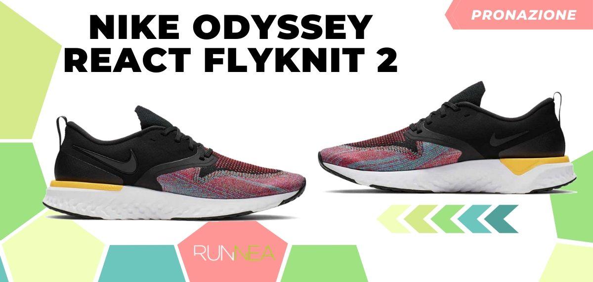Migliori scarpe da running 2020 di pronazione, Nike Odyssey React Flyknit 2