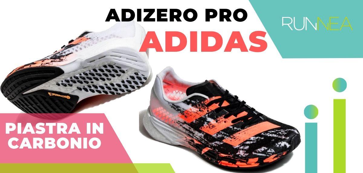 Le migliori scarpe da running con piastra in carbonio, Adidas Adizero Pro