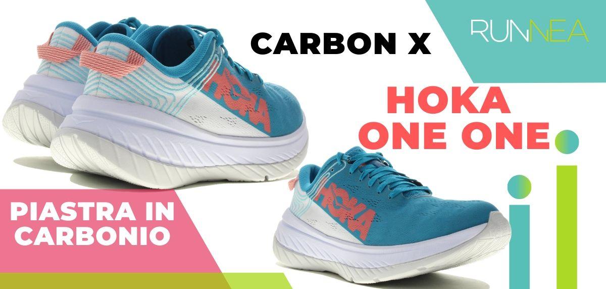 Le migliori scarpe da running con piastra in carbonio, Hoka One One Carbon X