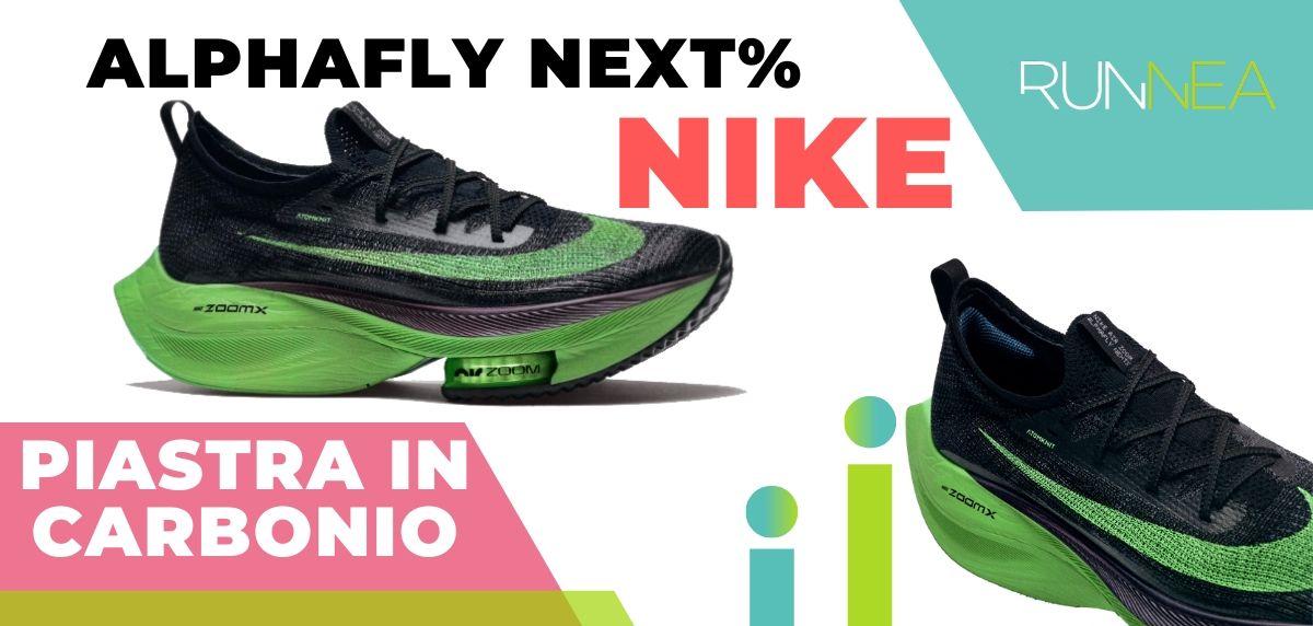Le migliori scarpe da running con piastra in carbonio, Nike Air Zoom Alphafly NEXT%