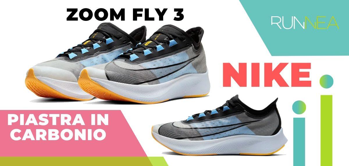 Le migliori scarpe da running con piastra in carbonio, Nike Zoom Fly 3
