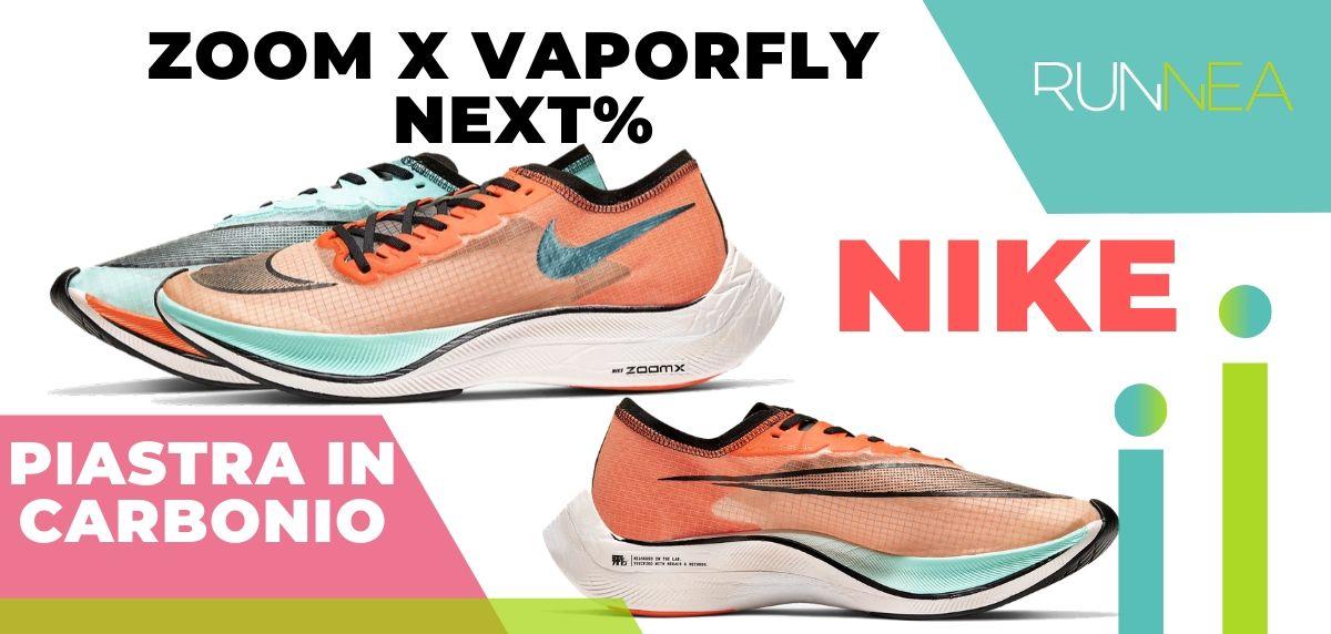 Le migliori scarpe da running con piastra in carbonio, Nike ZoomX Vaporfly Next %