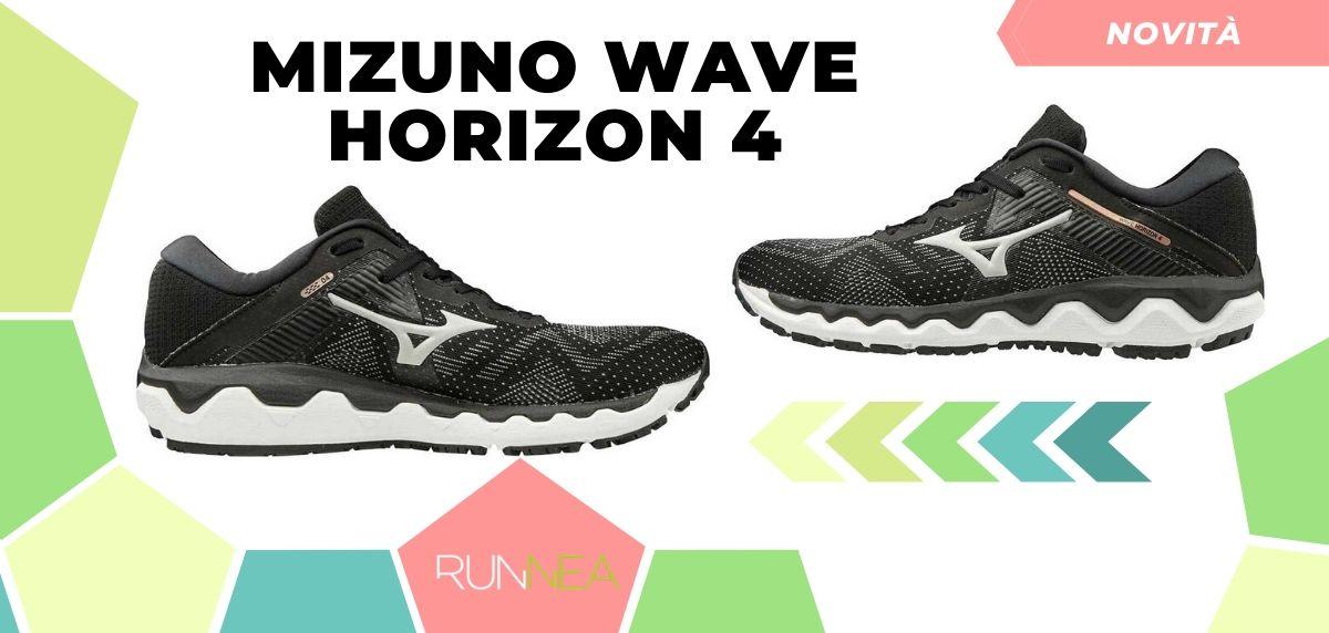 Mizuno: tutte le novità delle scarpe da corsa 2020, Wave Horizon 4