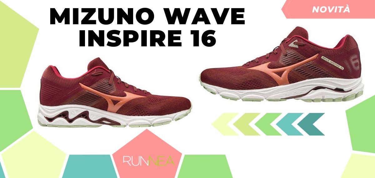 Mizuno: tutte le novità delle scarpe da corsa 2020, Wave Inspire 16