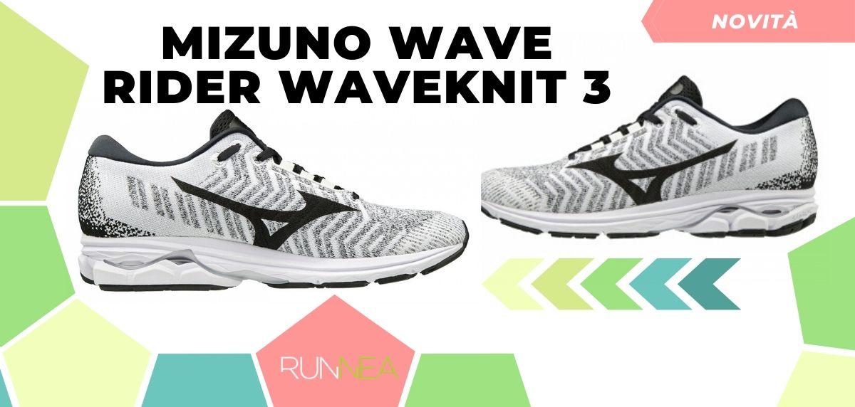 Mizuno: tutte le novità delle scarpe da corsa 2020, Wave Rider Waveknit 3