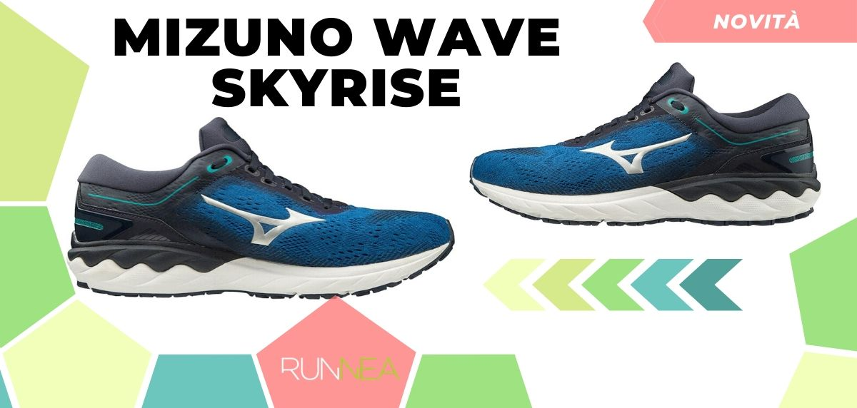 Mizuno: tutte le novità delle scarpe da corsa 2020, Wave Skyrise