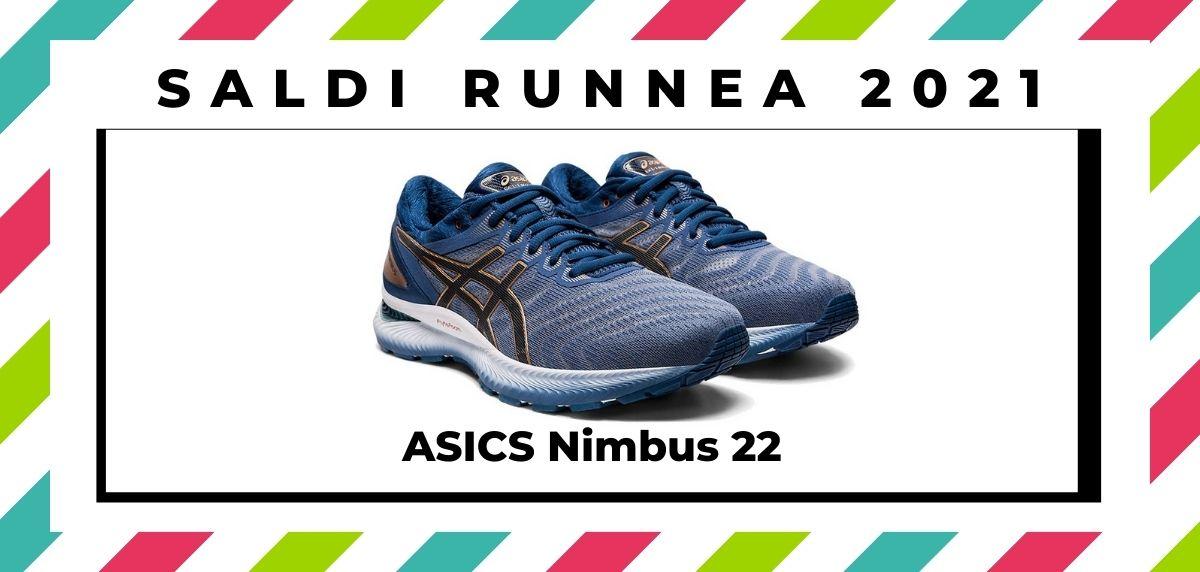 Saldi 2021: offerte delle migliori marche e negozi running, ASICS Nimbus 22
