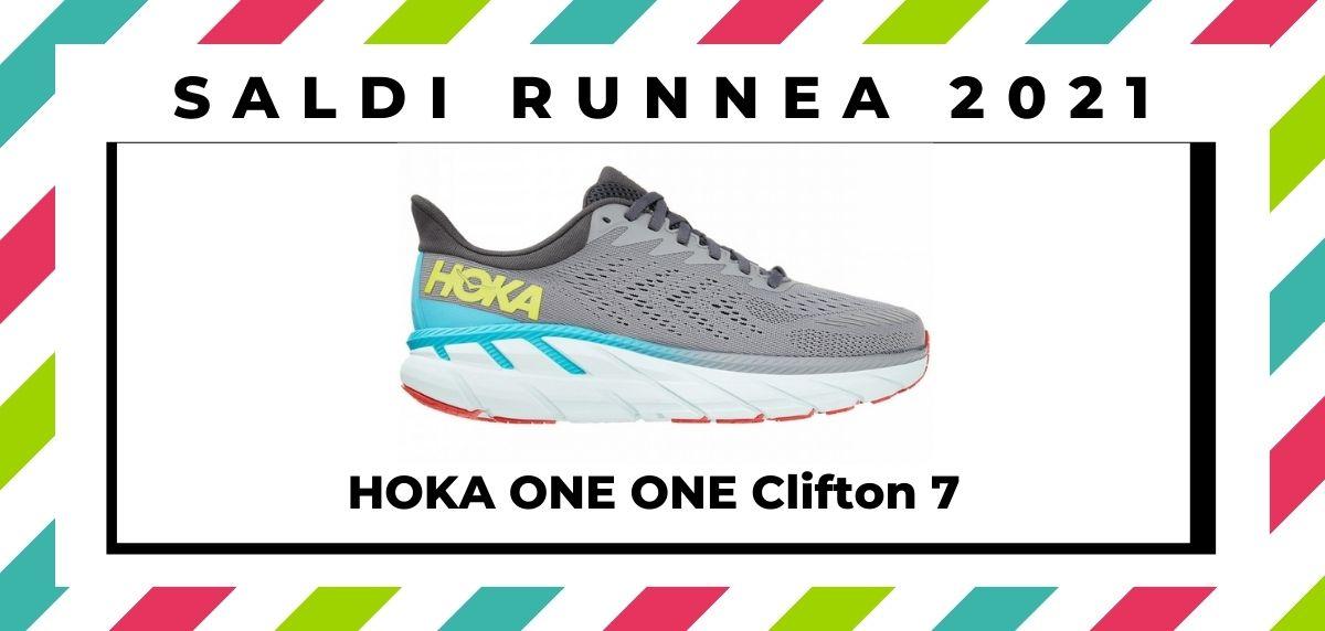 Saldi 2021: offerte delle migliori marche e negozi running, HOKA ONE ONE Clifton 7