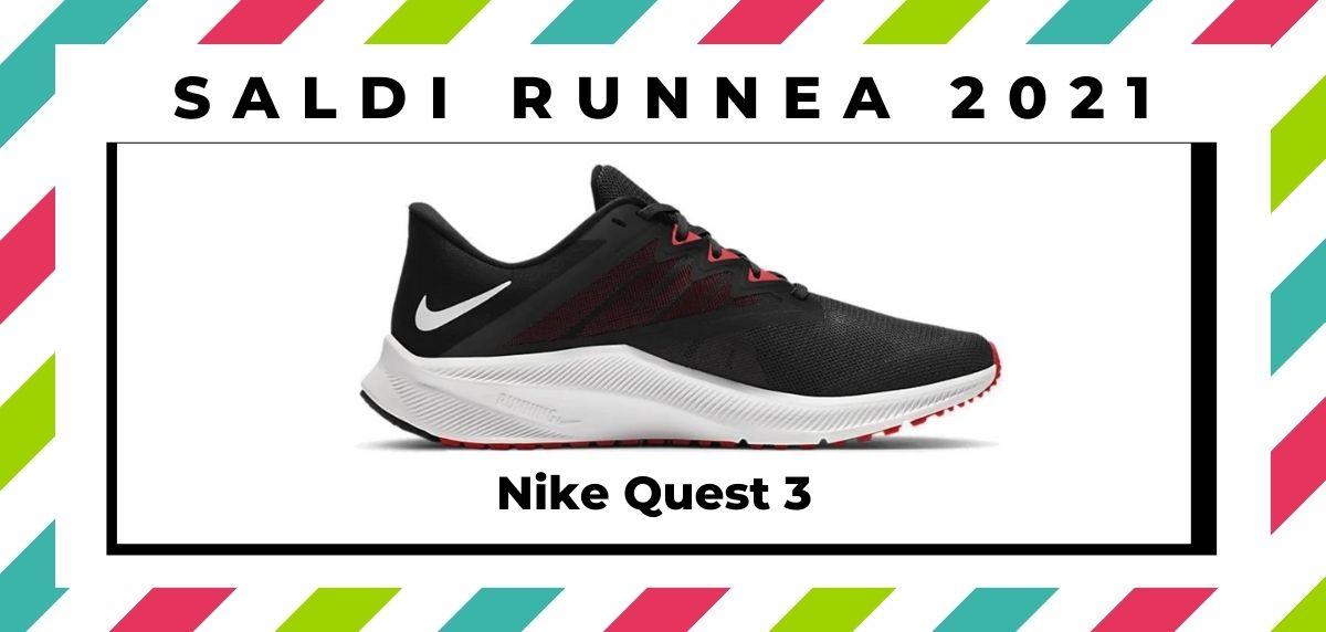 Saldi 2021: offerte delle migliori marche e negozi running, Nike Quest 3