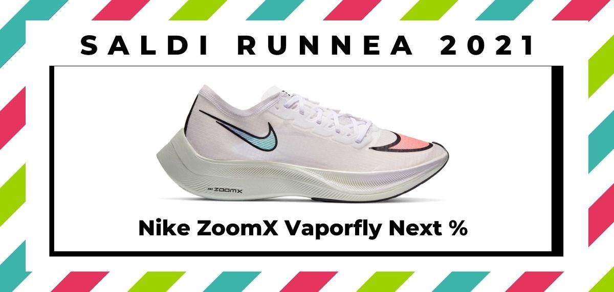 Saldi 2021: offerte delle migliori marche e negozi running, Nike ZoomX Vaporfly Next %